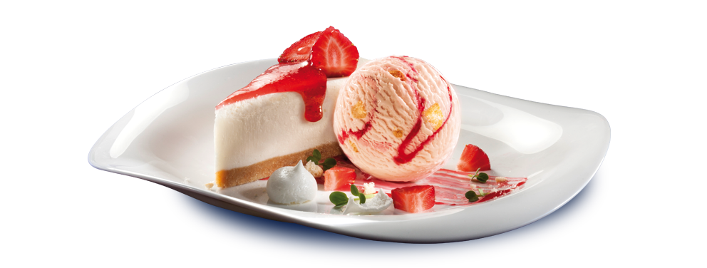 Strawberry cheesecake png.