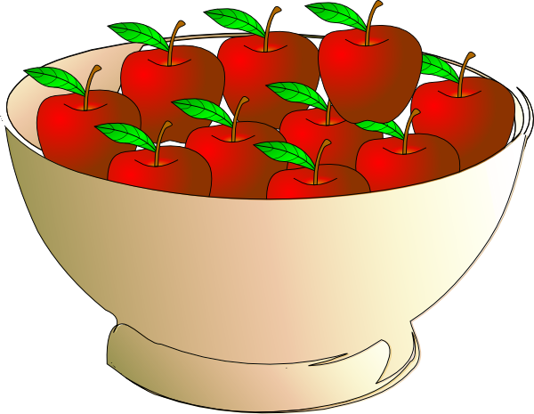Strawberry clipart bowl. Apple clip art at