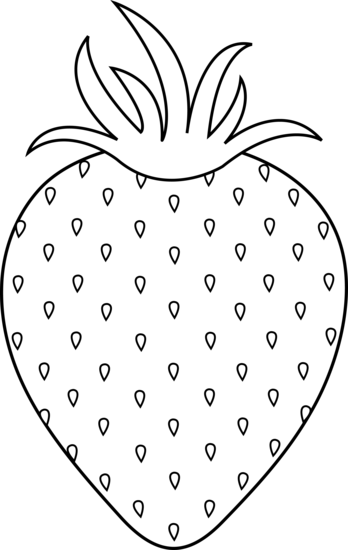 White strawberry. Clipart black and nice