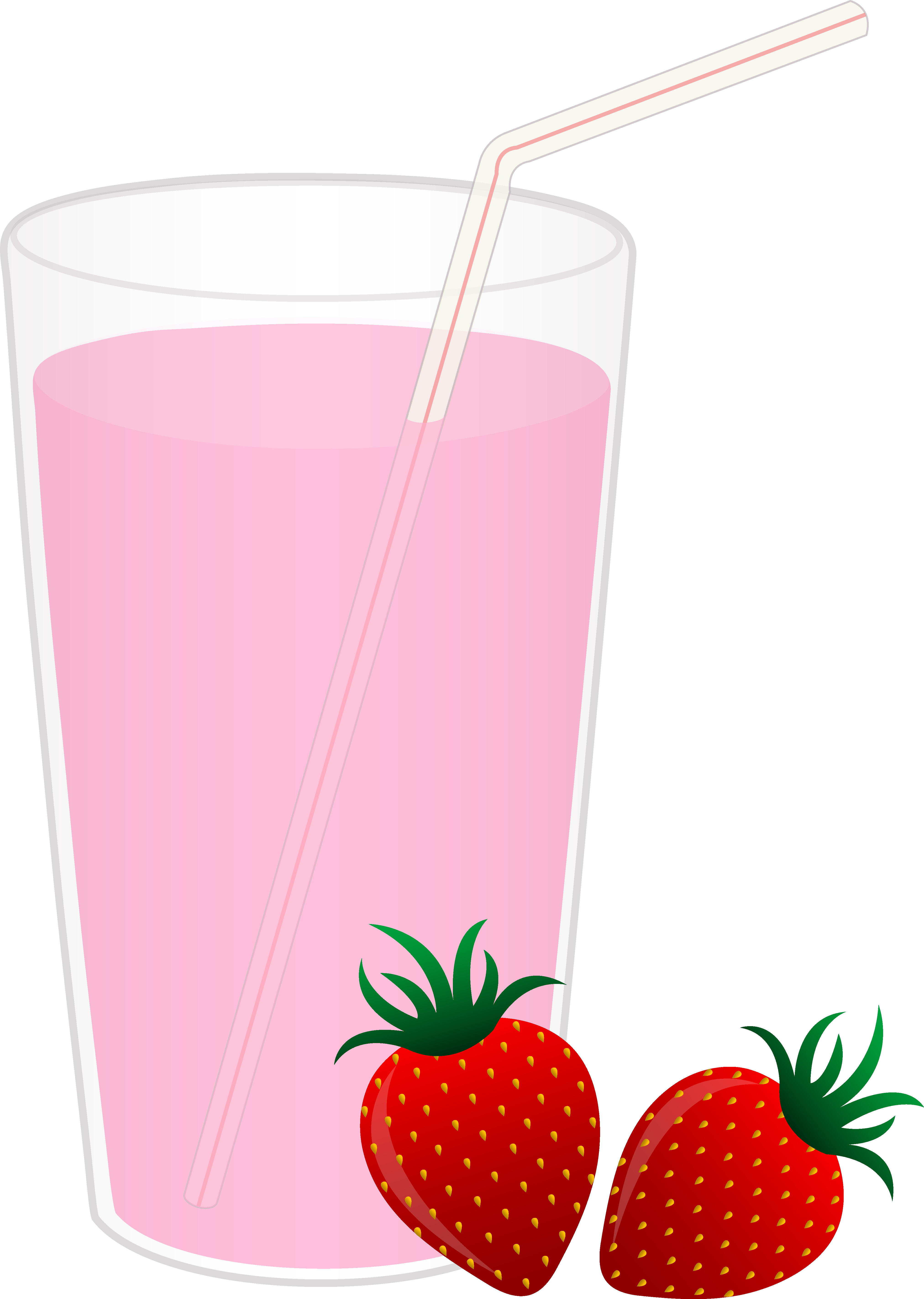 Strawberry clipart pink strawberry. Glass of milk free