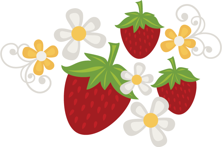 Strawberry svg. Strawberries flowers file free