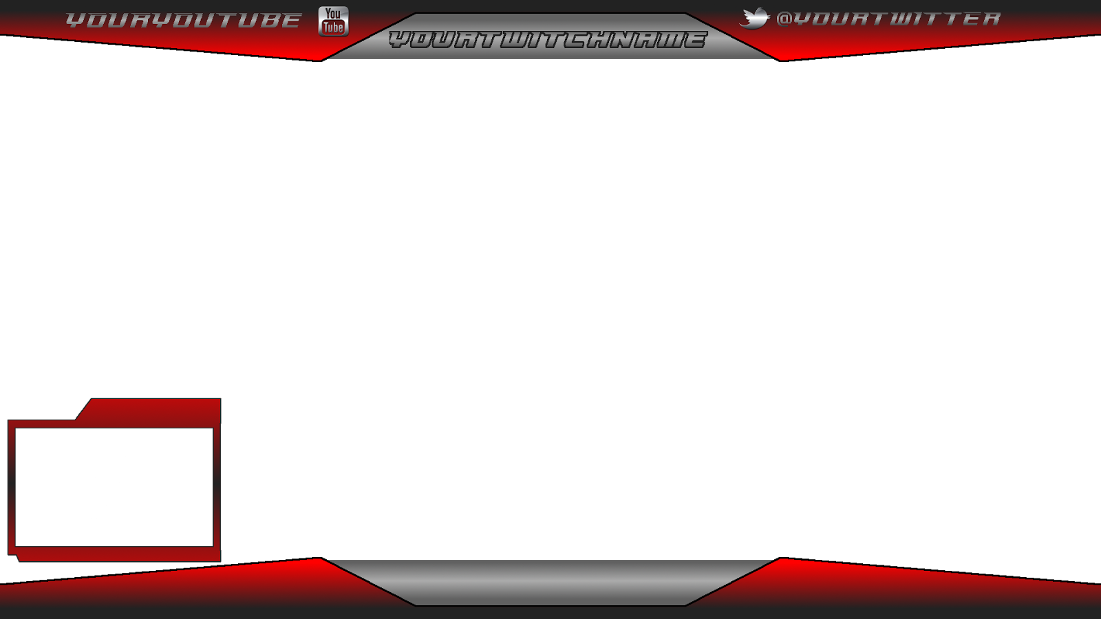 Stream overlay template png. Images of red