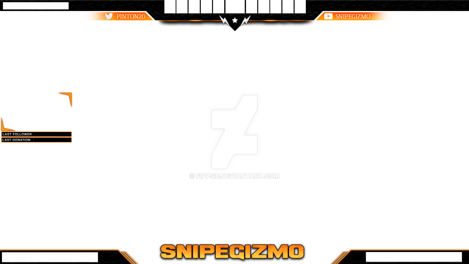 Stream overlay template png. Twitch csgo for snipegizmo