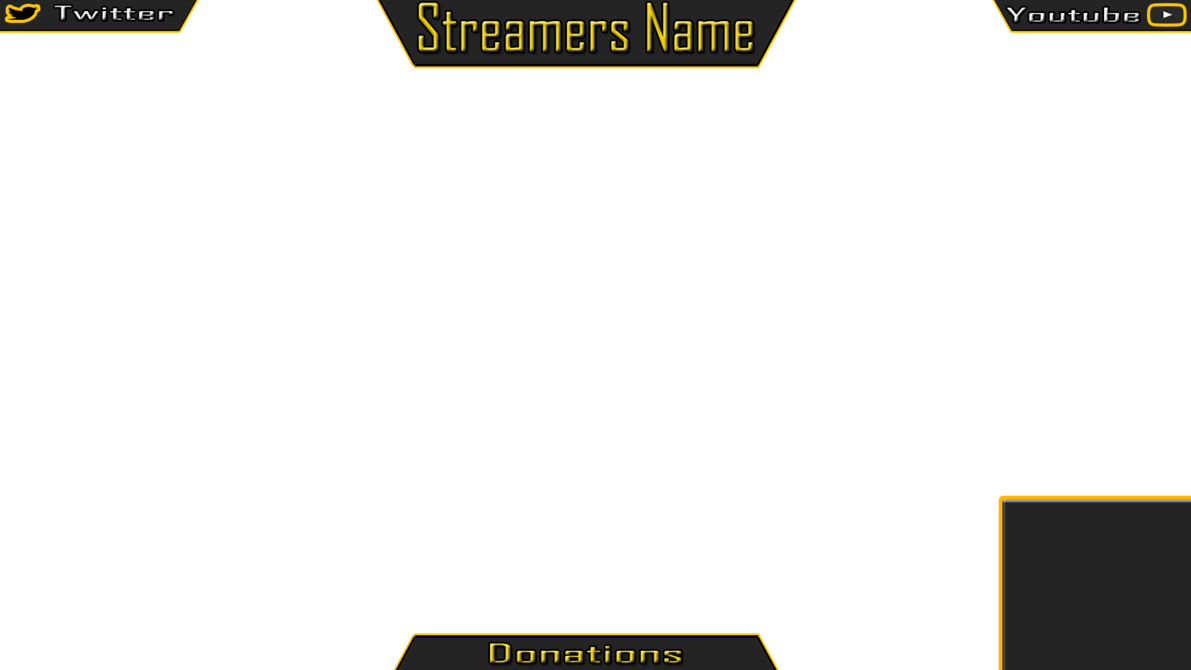 Stream overlay template png. Splashout series p streaming