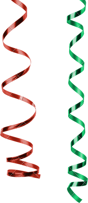 Streamers clipart green. And red photos by