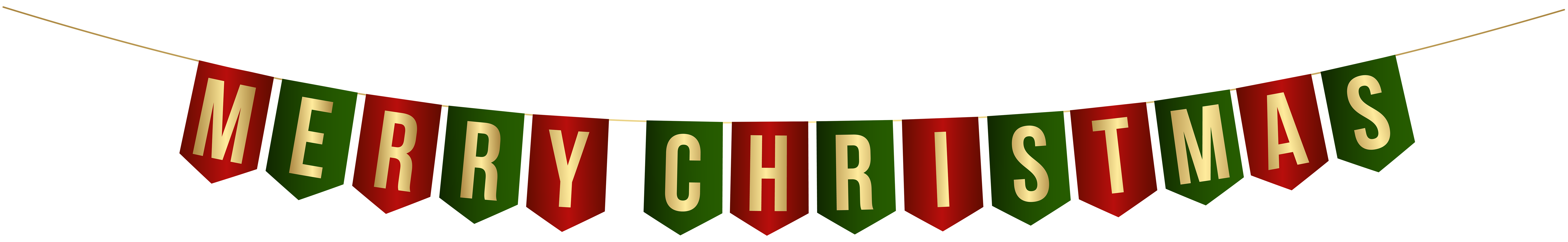 Streamers clipart green. Merry christmas streamer png