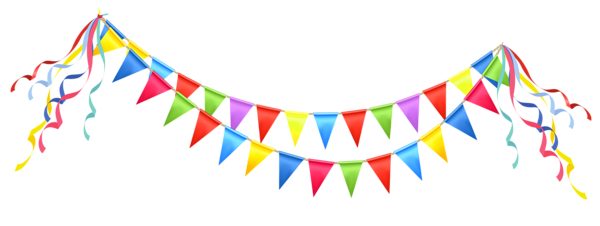 Streamers clipart pennant. Transparent party streamer png