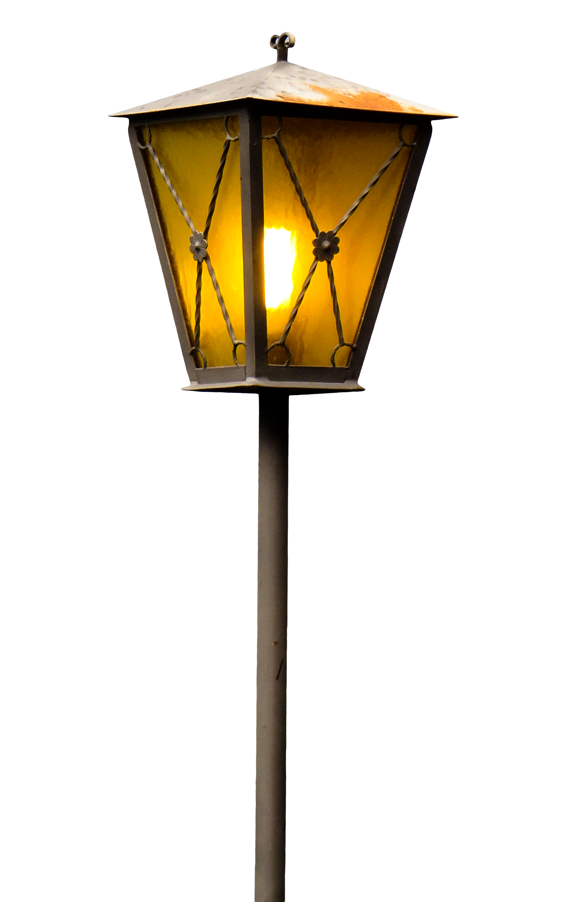 Street lamp png. Old object in photo