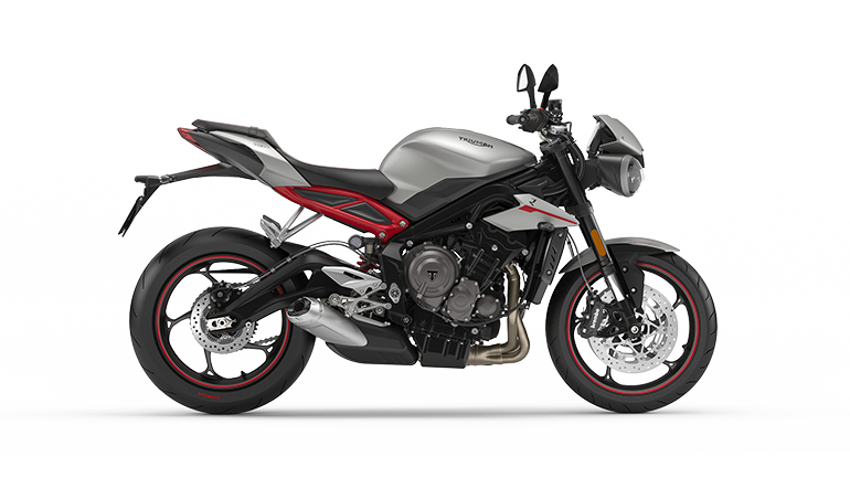Drawing motorcycle sport bike. Triumph motorcycles for the