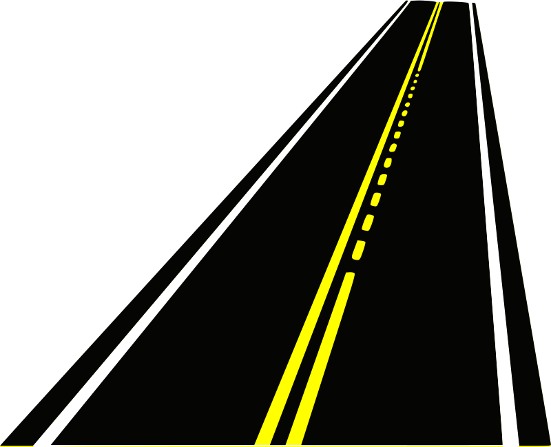 Straight clipart open road. Curved street panda free