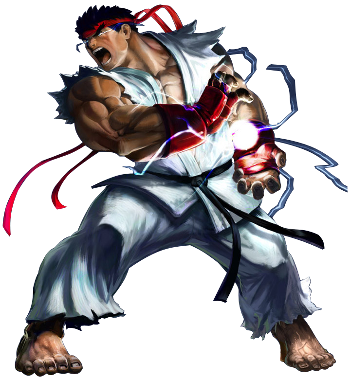 Street fighter 4 ryu png. Image render fighters of