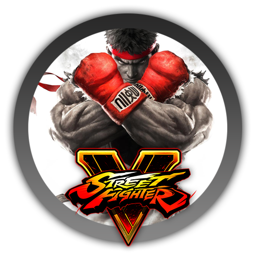 Street fighter 5 logo png. V icon by blagoicons