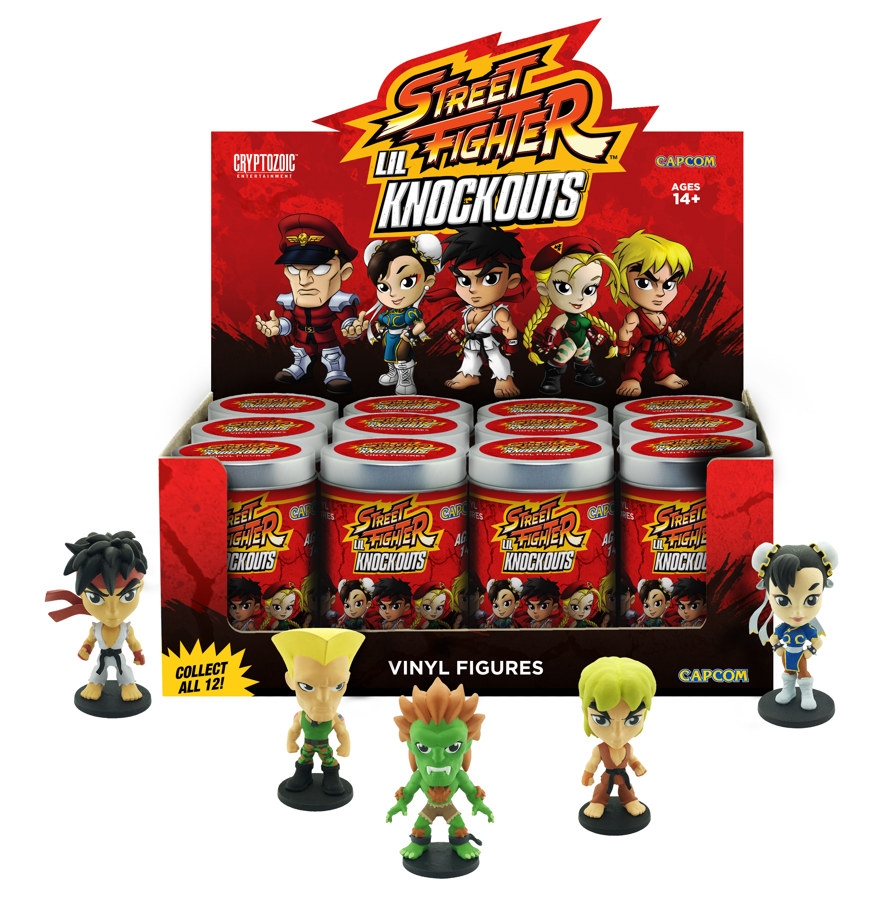 Street fighter ko png. Lil knockouts series cryptozoic