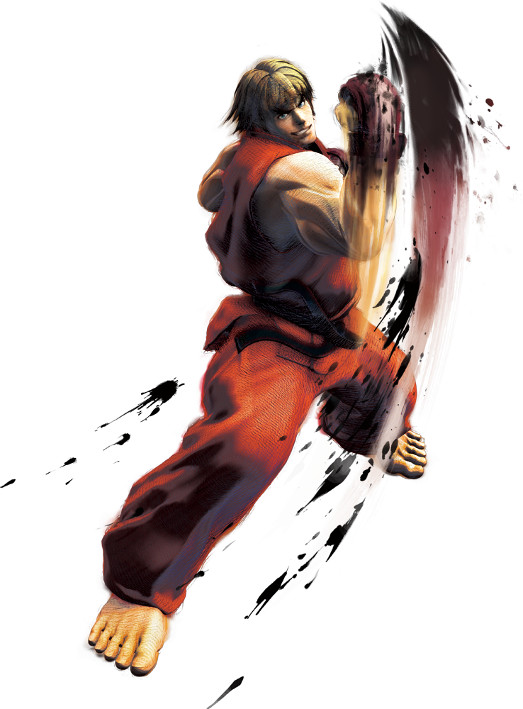Street fighter transparent png. Ken artwork from super