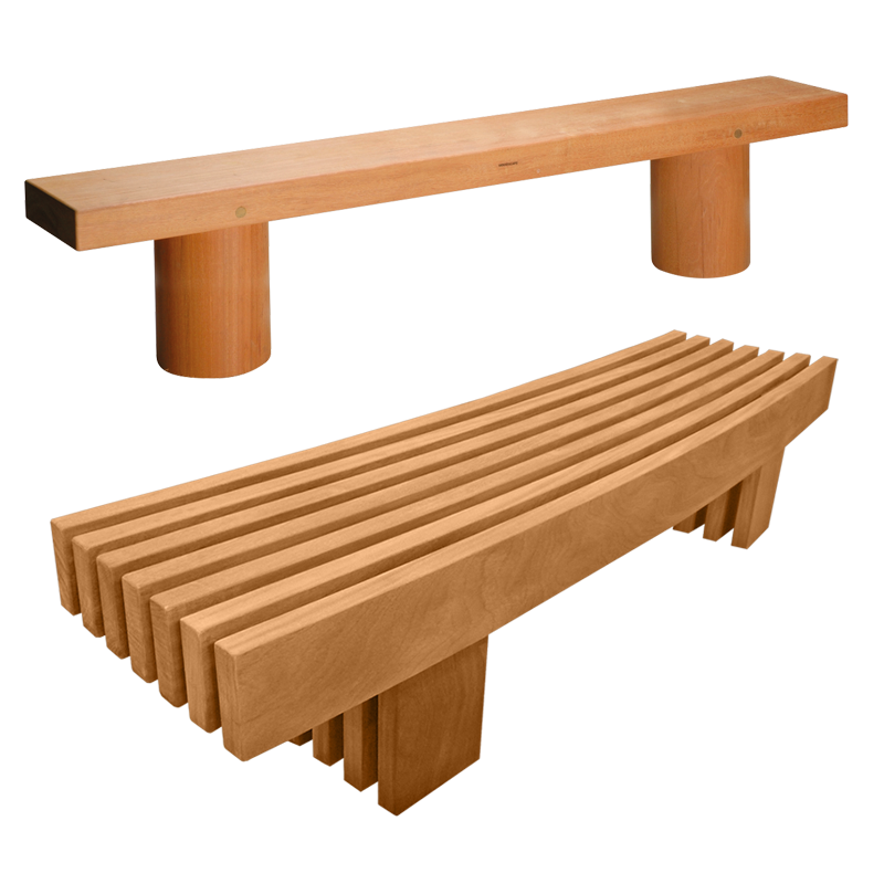 Outdoor drawing seating. Street furniture woodscape uk