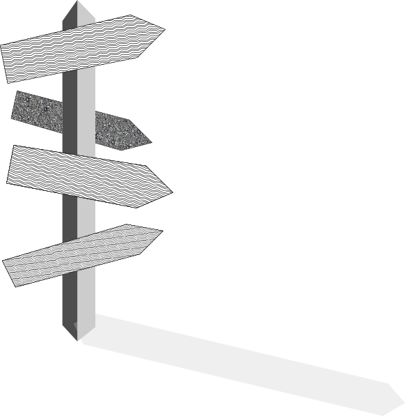 Drawing road street. Sign post clip art