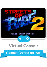 Streets of rage 2 logo png. For wii nintendo game