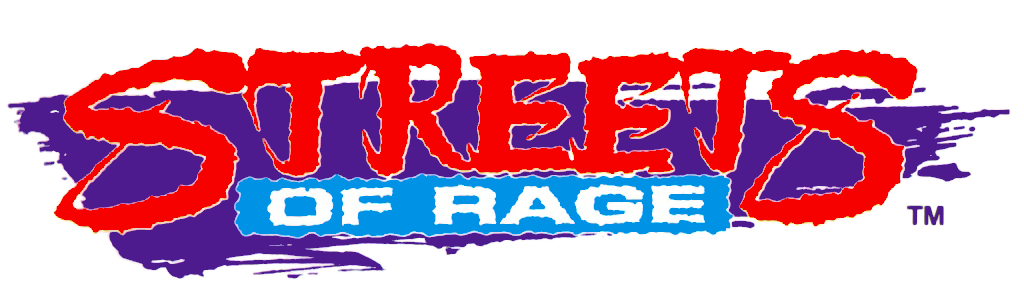 Streets of rage 2 logo png. By m troart on