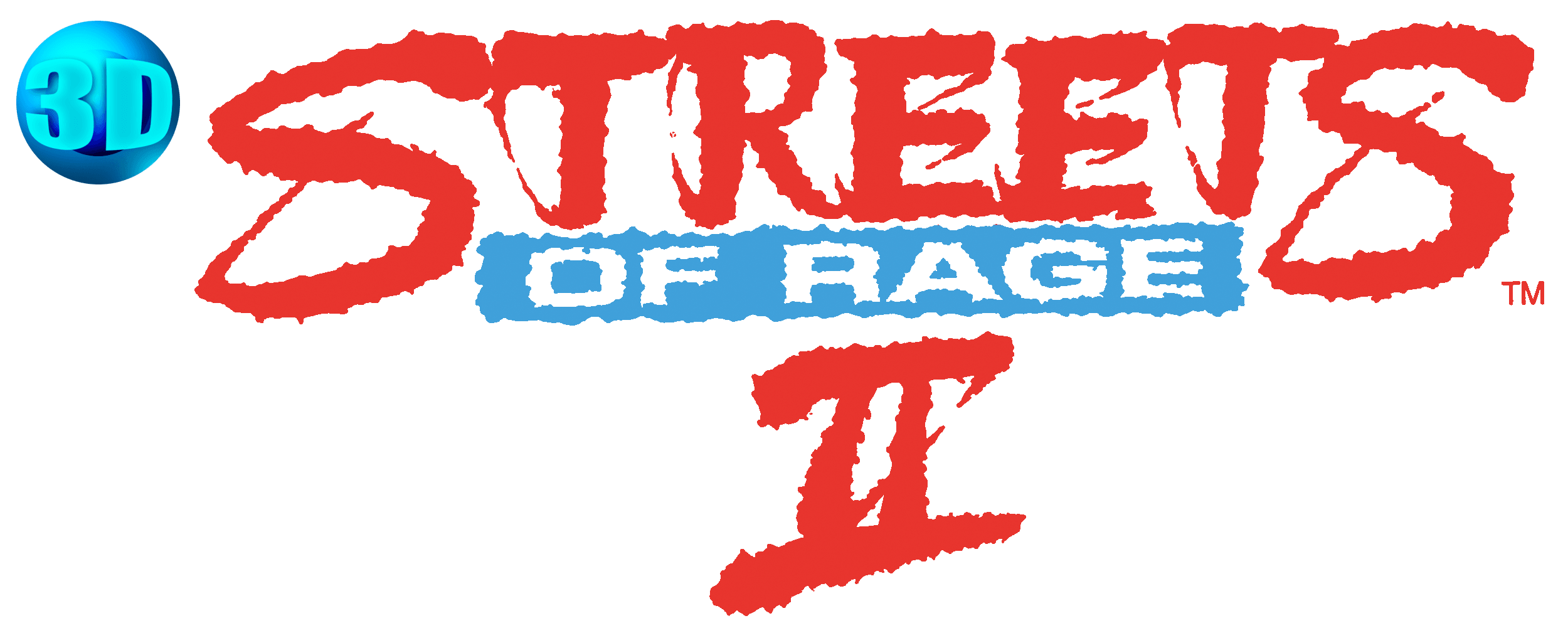 Streets of rage 2 logo png. D details launchbox