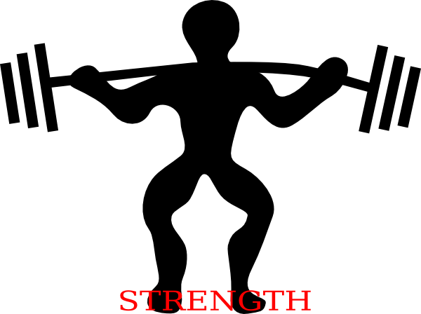 Squat clip art at. Strength clipart muscular strength banner freeuse