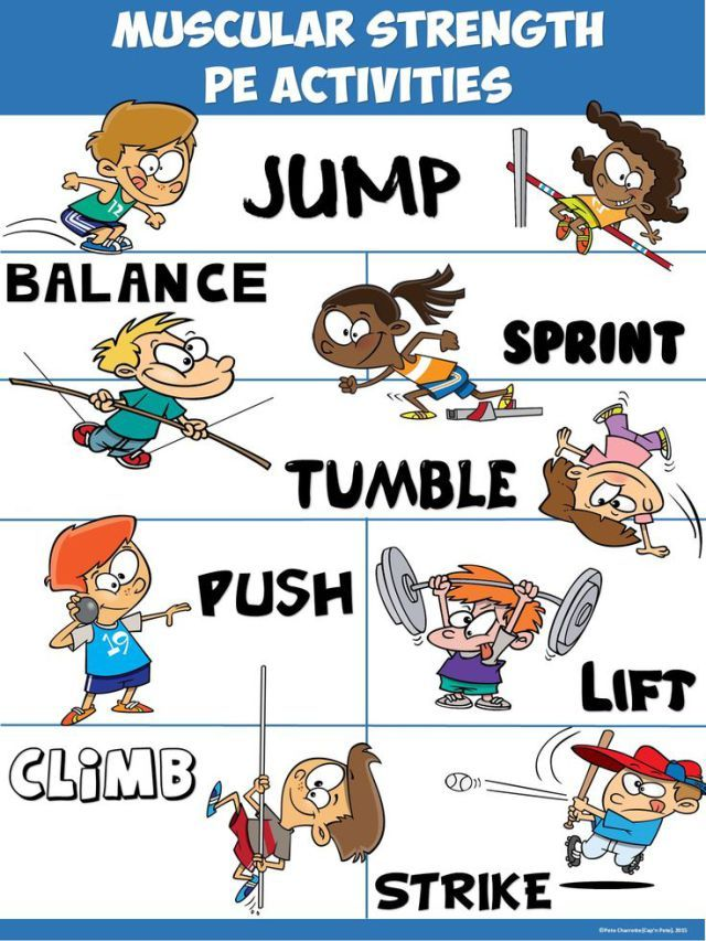 Pe poster activities tips. Strength clipart muscular strength graphic freeuse download