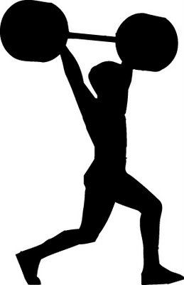 Strength clipart weight lifting. Silhouette clip art at