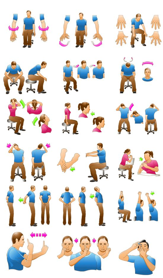 Stretching clipart light exercise. Best office exercises