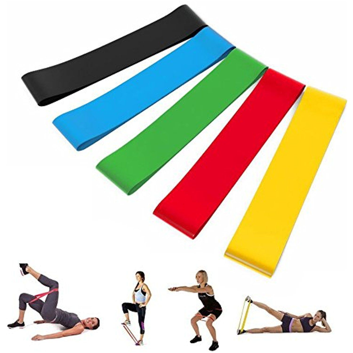 Stretching clipart light exercise. Loop resistance band mini