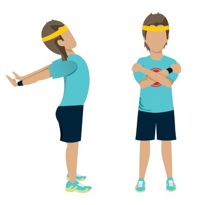 Stretching clipart light exercise. Deskercises keeping fit at
