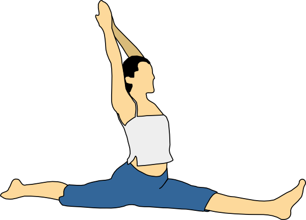 Stretching clipart regular exercise. People