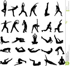 Stretching clipart regular exercise. Woman doing yoga or