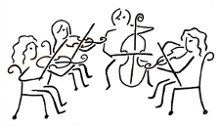 String clipart string quartet. Daponte chebeague events