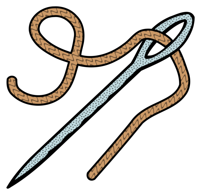 String clipart thread. Hand sewing needles hypodermic