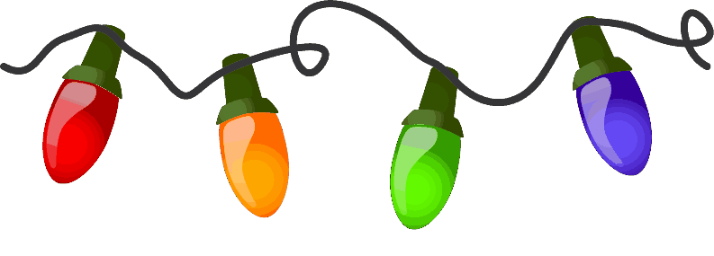String of christmas lights png. Clipart borders panda free