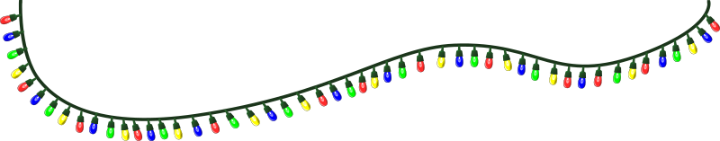 String of christmas lights png. Clipart medium image