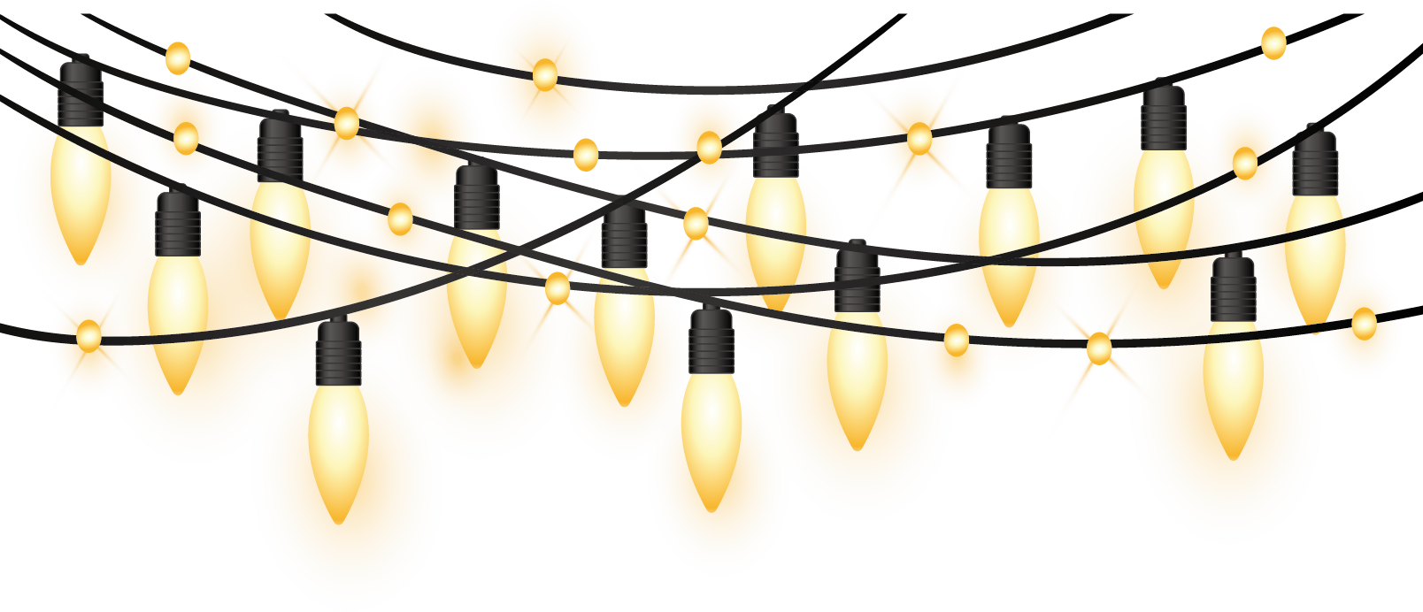 String of christmas lights png. Clip art yellow light