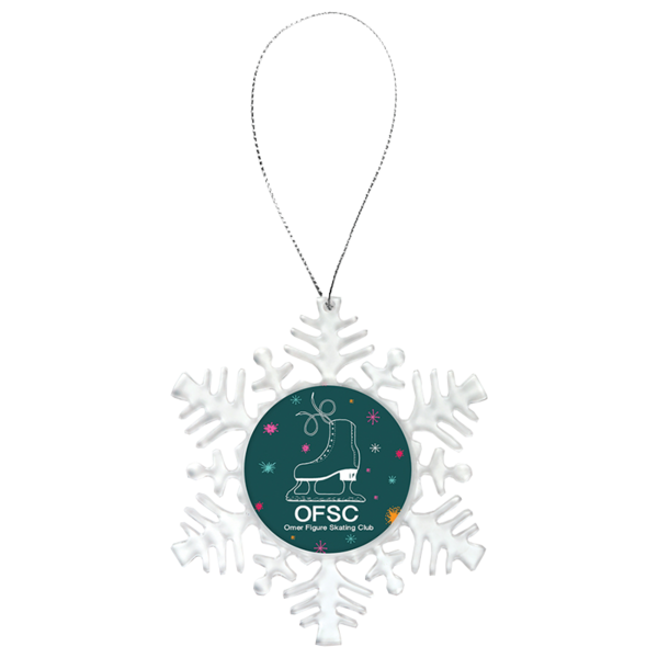 Clear transparent ornament. Insert christmas silver string
