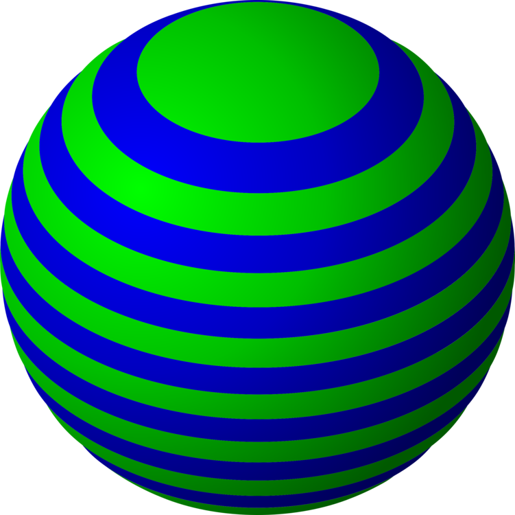 Striped vector sphere. Football computer icons art