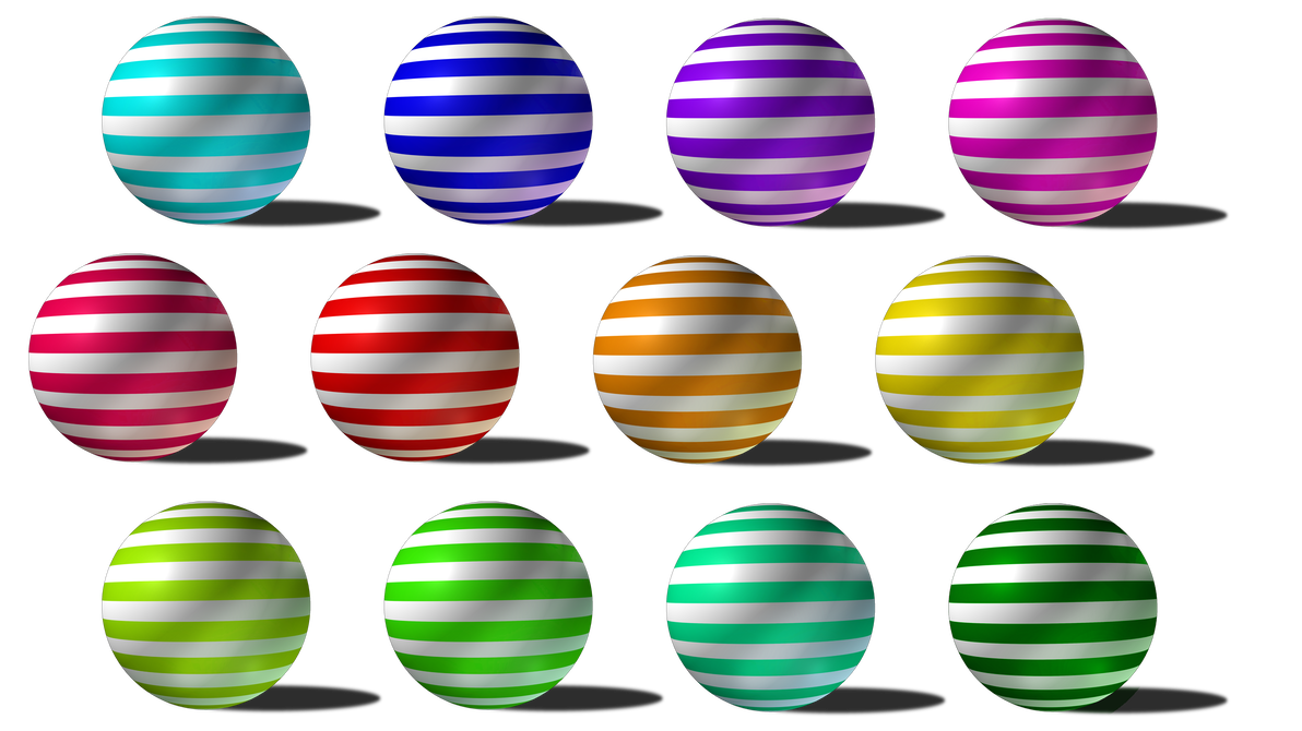 Striped vector sphere. Spheres with stripes png