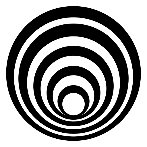 Striped vector spiral. Isolated circle design transparent