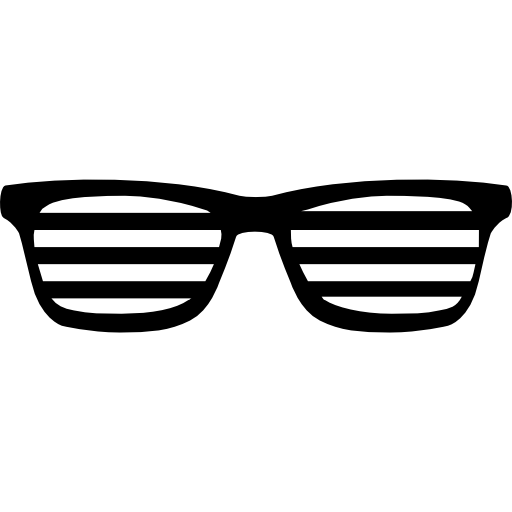 Striped vector sunglasses. With stripes free tools