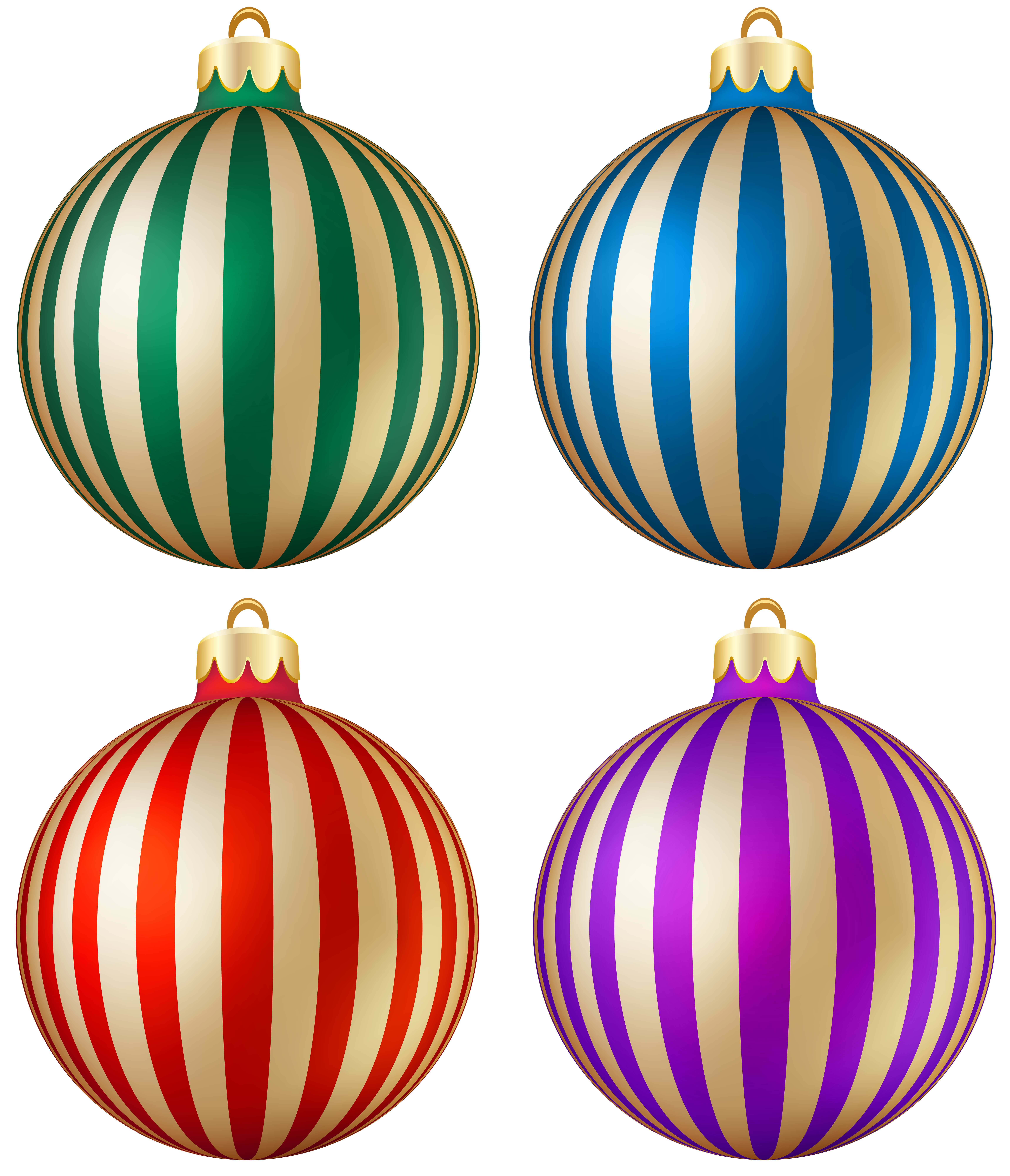 Stripes transparent christmas. Striped balls png image