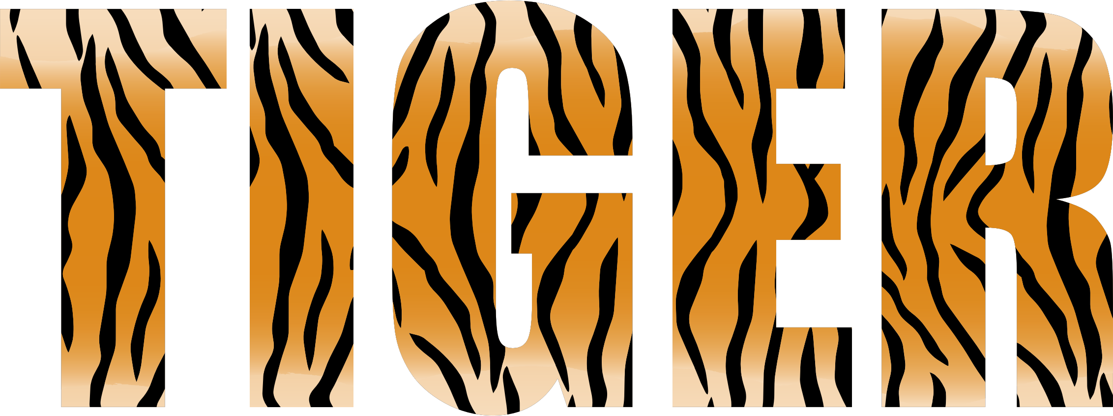 Stripes transparent tiger. Typography icons png free