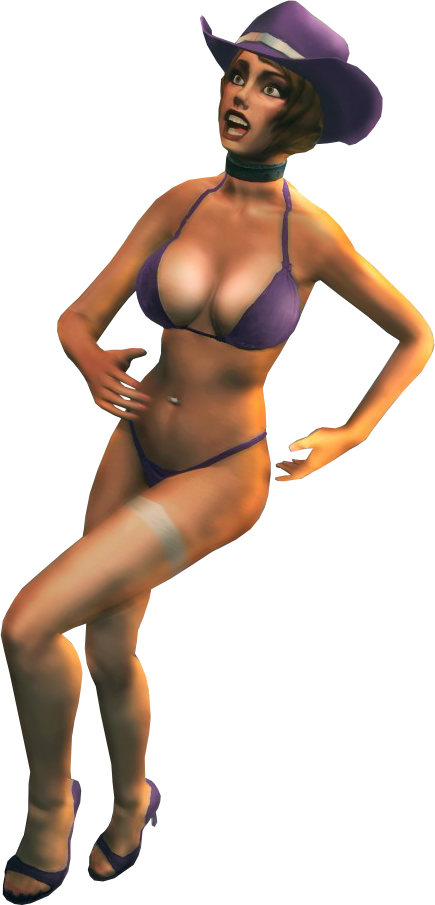 Stripper girl png. Image with saints outfit
