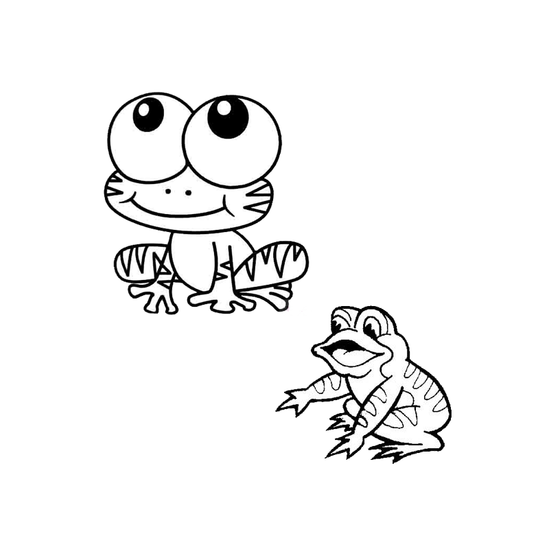 Stroke drawing child. Frog qu bng wu