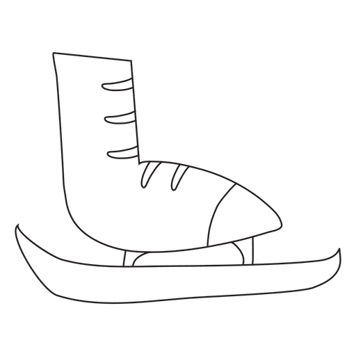 Stroke drawing hand. Ice skate drawn icon