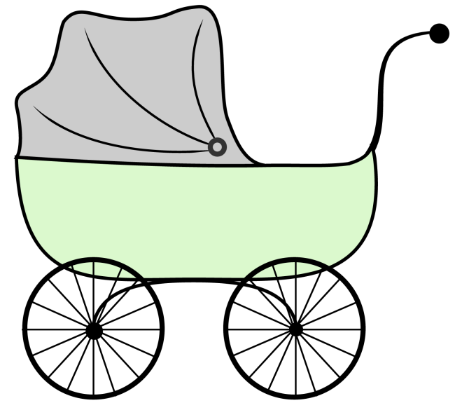 Stroller clip. Baby clipart craft projects