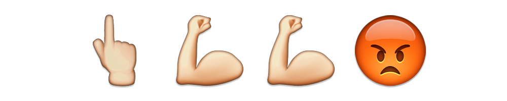 Strong arm emoji png. Up in arms meanings