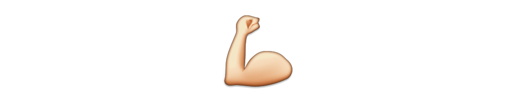 Strong arm emoji png. An and a leg