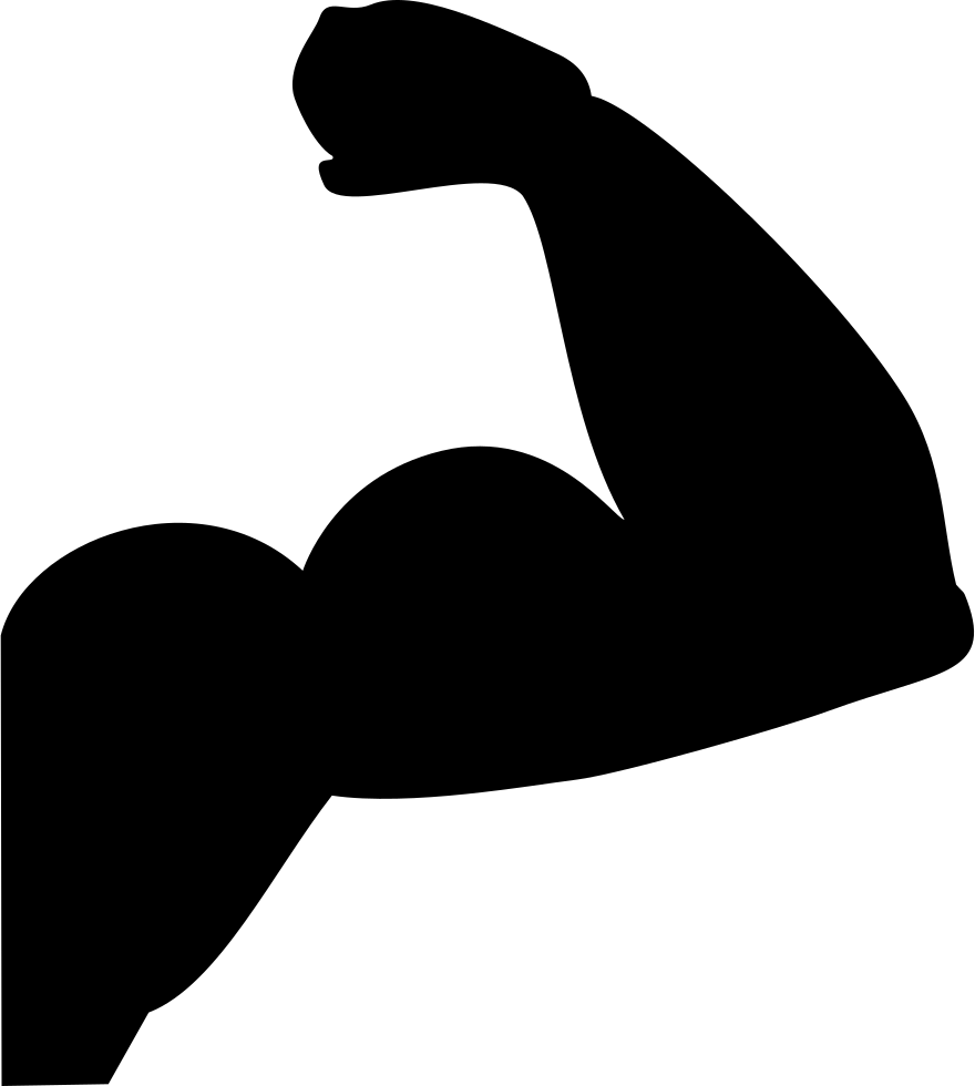 Strong arm png. Svg icon free download